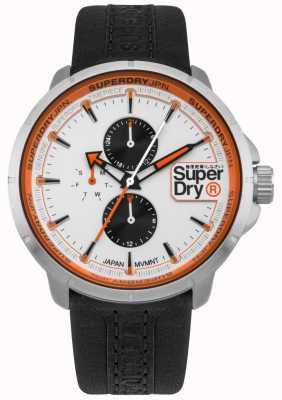 Superdry Kyoto ranger bracelet noir cadran blanc SYG218WB
