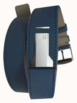 Klokers Klink 02 bleu indigo double sangle seulement 22mm de large 420mm de long KLINK-02-420C3