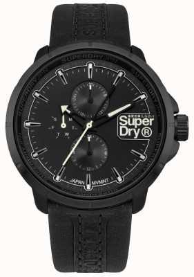 Superdry Kyoto ranger bracelet noir cadran noir SYG218BB