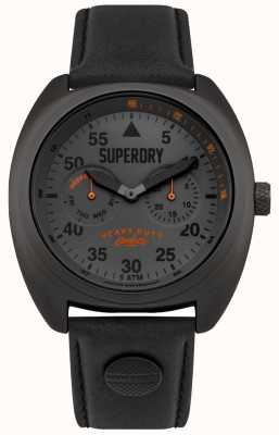 Superdry Scout aviateur date et jour affichage bracelet noir SYG229BB
