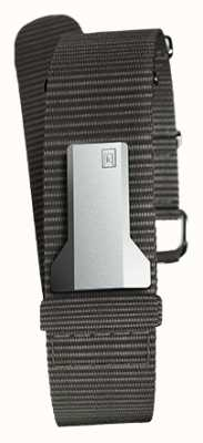 Klokers Klink 03 textile noir sangle unique seulement 20mm large 230mm KLINK-03-MC3