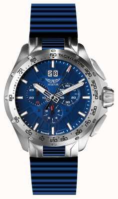 Aviator Mig-35 cockpit chronographe date bracelet bleu cadran bleu cadran M.2.19.0.143.6