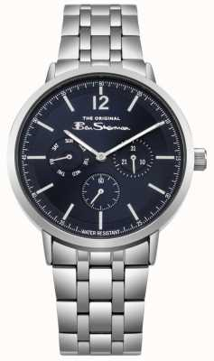 Ben Sherman Bracelet cadran bleu en acier inoxydable jour et date BS011USM
