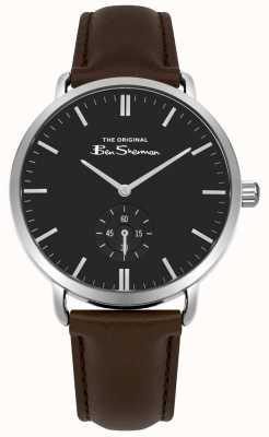 Ben Sherman Cadran noir secondes sous cadran bracelet en cuir marron BS009BBR