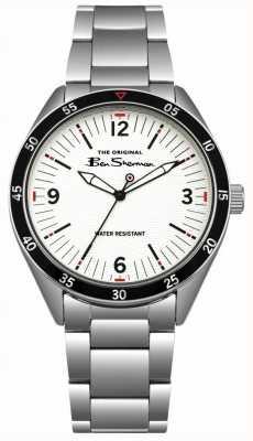 Ben Sherman Cadran crème argenté boîtier et bracelet en acier inoxydable BS007WSM