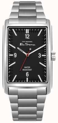 Ben Sherman Cadran noir boîtier et bracelet en acier inoxydable BS013BSM