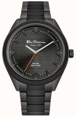 Ben Sherman Cadran noir Boîtier et bracelet en acier inoxydable avec revêtement IP noir BS005BBM