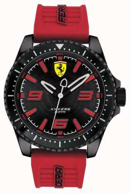 Scuderia Ferrari Bracelet caoutchouc rouge cadran noir x kers 0830498