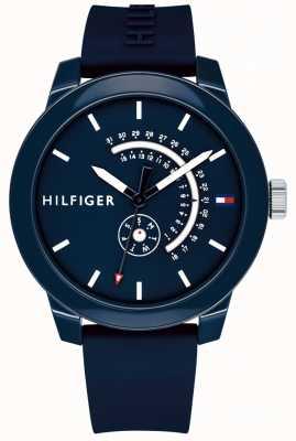 Tommy Hilfiger Débardeur en denim bleu et date avec bracelet en caoutchouc bleu 1791482