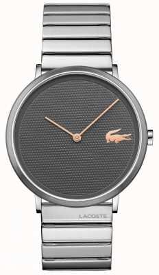 Lacoste Cadran gris lunaire boîtier et bracelet en acier inoxydable 2010954