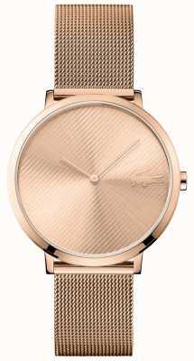Lacoste Lune cadran en or rose et bracelet en maille d'or rose 2001028