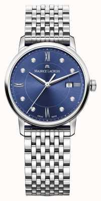 Maurice Lacroix Womens eliros acier inoxydable cadran bleu EL1094-SS002-450-1