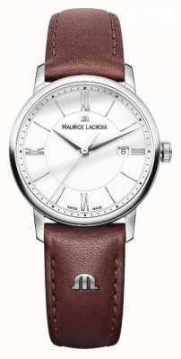 Maurice Lacroix Womens eliros bracelet en cuir marron dialladies argent EL1094-SS001-110-1