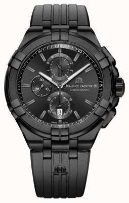 Maurice Lacroix Aikon quartz chronographe noir pvd AI1018-PVB01-333-1
