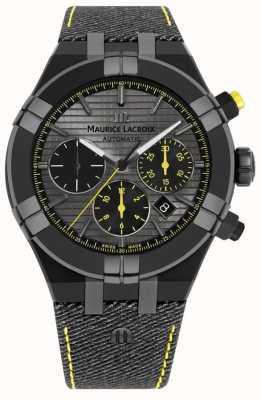 Maurice Lacroix Bracelet noir édition limitée aikon 'chasser votre montre' AI6018-PVB01-331-1