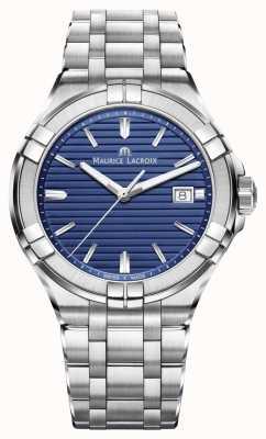 Maurice Lacroix Aikon mens bracelet en acier inoxydable cadran bleu AI1008-SS002-431-1