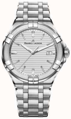 Maurice Lacroix Mens aikon acier inoxydable quartz argent cadran AI1008-SS002-131-1