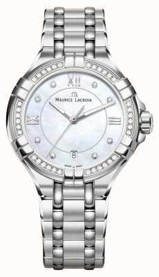Maurice Lacroix Bracelet en acier inoxydable avec cadran en nacre Aikon pour femme AI1006-SD502-170-1