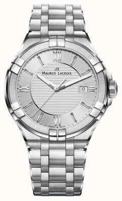 Maurice Lacroix Womens aikon bracelet en acier inoxydable cadran argenté AI1004-SS002-130-1