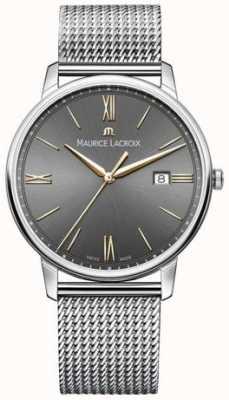 Maurice Lacroix Bracelet eliros pour homme avec cadran noir et accents dorés EL1118-SS002-311-1