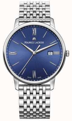 Maurice Lacroix Bracelet en acier inoxydable à cadran bleu pour homme Eliros EL1118-SS002-410-2