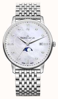 Maurice Lacroix Womens eliros moonphase nacre maille bracelet EL1096-SS002-170-1