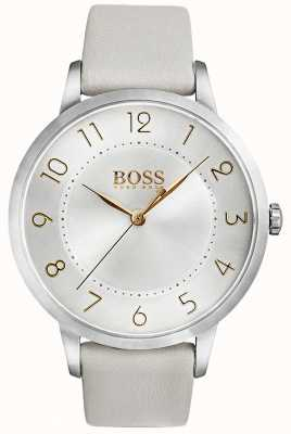 Hugo Boss Womens eclipse watch boucle en cuir blanc 1502405