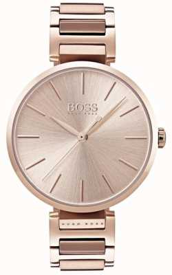 Hugo Boss Montre allusion femme rose doré 1502418