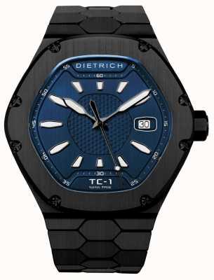 Dietrich Compagnon de temps cadran noir pvd bleu automatique TC-1 PVD BLUE