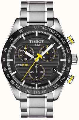 Tissot Montre homme prs 516 chronographe cadran noir bracelet en acier inoxydable T1004171105100