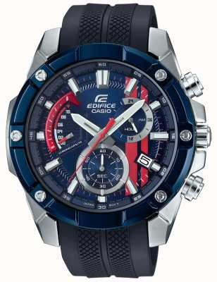 Casio Edifice toro rosso bracelet en caoutchouc cadran bleu EFR-559TRP-2AER