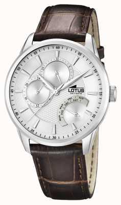 Lotus Hommes occasionnels multi fonction montre bracelet en cuir 15974/1