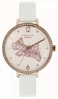 Radley Montre pour chien folklorique Womens rose cadran bracelet en cuir gris RY2584