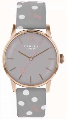 Radley Womens cru chien point montre gris cadran RY2564