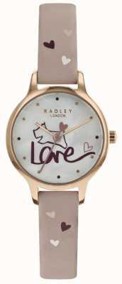 Radley Womens amour montre bracelet en cuir plaqué rose RY2576