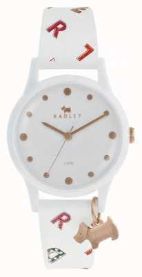 Radley Lettres femmes montre silicone blanc RY2602