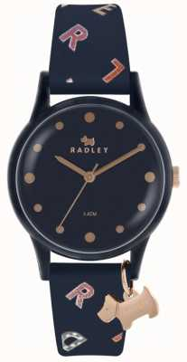 Radley Womens lettres montre navy silicone RY2600