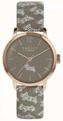 Radley Montre pour chien folklorique Womens gris cadran gris bracelet en cuir RY2572