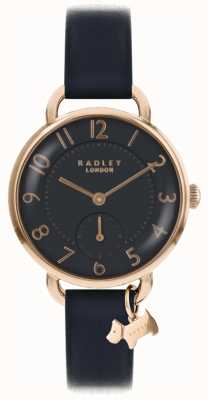 Radley Womens southwark park montre bracelet en cuir noir RY2548