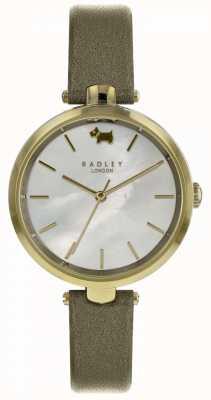 Radley Womens st dunstans olive shimmer montre en cuir RY2550