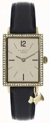 Radley Womens primrose hill montre bracelet en cuir noir RY2534