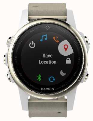 Garmin Fenix s5 saphir couleur or gris (bracelet blanc de rechange) 010-01685-13