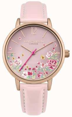 Daisy Dixon Bracelet en cuir rose pour femme rose floral DD073PRG