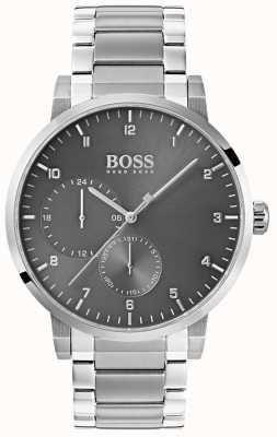 Hugo Boss Montre homme en acier inoxydable gris bracelet en acier inoxydable sunray 1513596