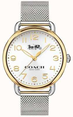 Coach Womens delancey acier inoxydable bracelet en maille doré 14502802