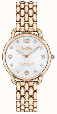 Coach Womens delancey slim bracelet rose montre argent cadran 14502783