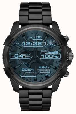 Diesel Mens garde pleine écran tactile noir smartwatch plaqué DZT2007