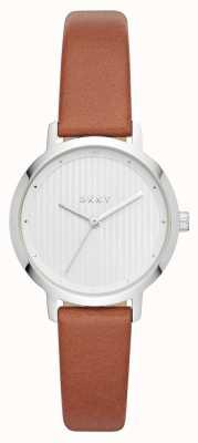 DKNY Womens la montre moderniste bracelet en cuir marron NY2676