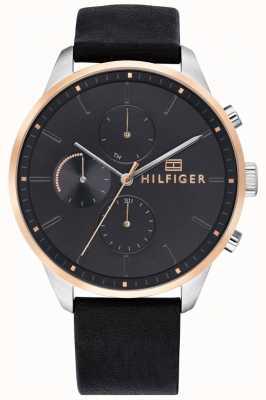 Tommy Hilfiger Bracelet en cuir chronographe chase pour homme 1791488