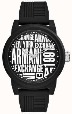 Armani Exchange Bracelet en silicone pour homme AX1443